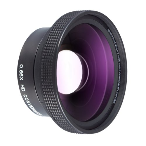 Raynox DCR-6600Pro 0.66x HD Wide Angle Conversion Lens (52mm) by Raynox