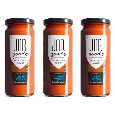 Jar Goods Classic Vodka Tomato Sauce 16 oz Glass Jars (Pack of 3) (Creamy Vodka Sauce)