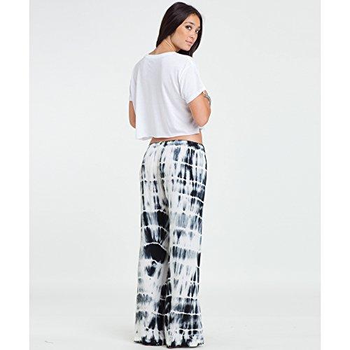 Billabong Juniors Midnight Hour Tie Dye Soft Pant, Off Black, Medium