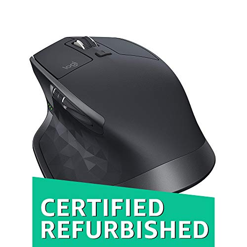 Logitech MX Master 2S Wireless Mouse with FLOW Cross-Computer Control and File Sharing for PC and Mac, Graphite (Certified Refurbished)