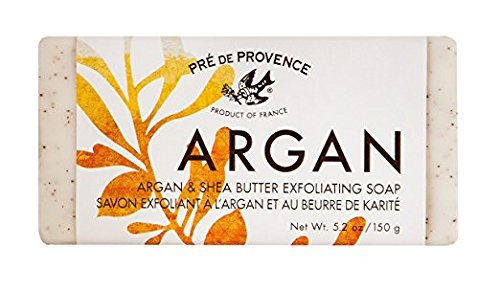 2 Pack Pre De Provence French Argan Exfoliating Shea Butter Bar Soaps 150g Gram 5.2 Ounce