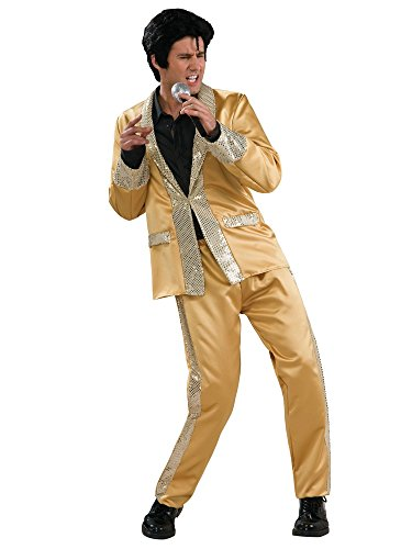 Rubie's Men's Deluxe Elvis Gold Satin Costume