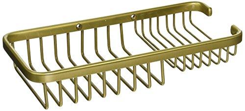 Allied Brass BSK-60SR-SBR Solid Rectangular Multi-Purpose Shower Basket, Satin Brass (Rectangular Basket Satin Shower)