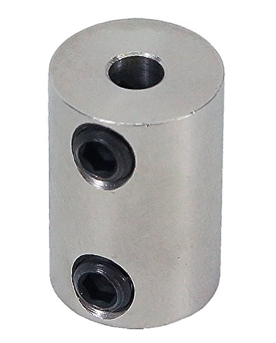 4mm to 4mm Stainless Steel Set Screw Shaft Coupler