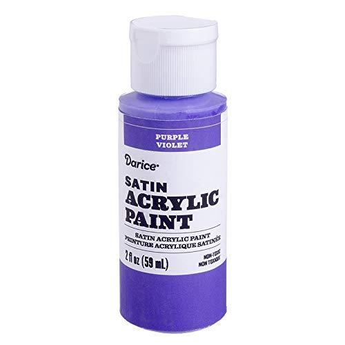 Darice 30062610 Satin Purple, 2 Ounces Acrylic Paint