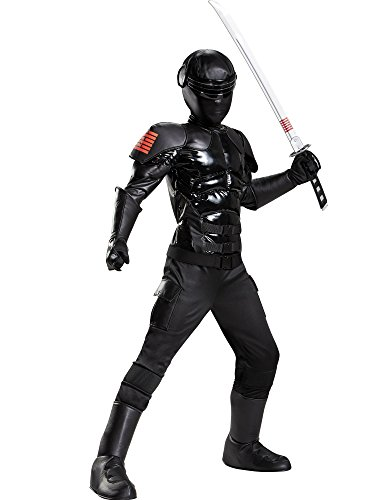 Gi Joe Costume (Snake Eyes Prestige Costume, Medium)