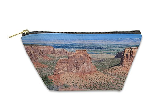 Gear New Accessory Zipper Pouch, Monument Canyon At Colorado National Monument Near Grand Junction Colorado USA, Small, - Junction Stores Grand
