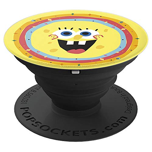 Nickelodeon SpongeBob SquarePants Kaleidoscope Face - PopSockets Grip and Stand for Phones and Tablets