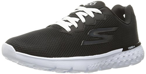 Skechers Performance Women's Go Run 400 Action Running Shoe, Black/White, 11 M US