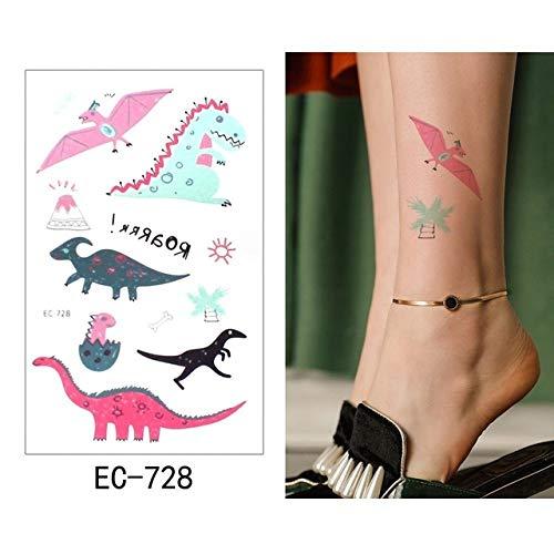 adgkitb 5pcs Etiqueta engomada del Tatuaje Temporal Dinosaurio ...