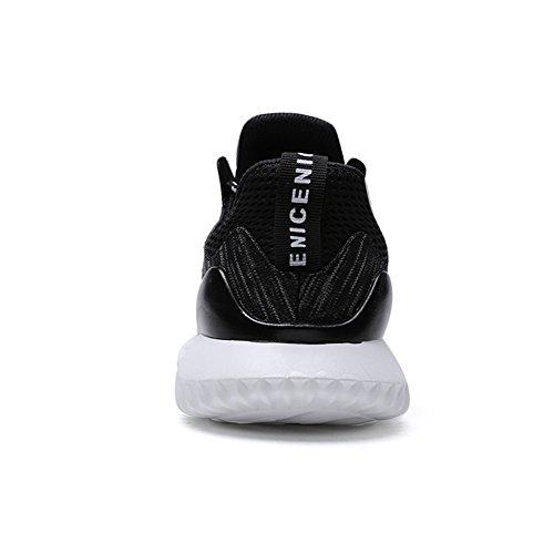 Scarpe da Moda Nero Scarpe Ginnastica Uomo Sneakers Running TUOKING Traspirante Bianco Sportive Corsa Leggere da dpO5dqw