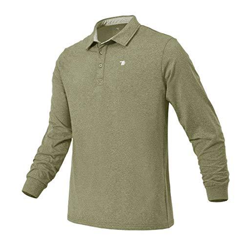 donhobo Herren Poloshirt Langarm-T-Shirt Outdoor Warm Atmungsaktiv Polohemd Golf Tennis Freizeit Polo Shirts