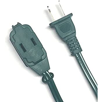 BRUFER 25384 2-Pack 16 AWG 3-Outlet Green Indoor Extension Cord - 15 Feet