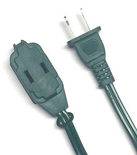 BRUFER 25384 2-Pack 16 AWG 3-Outlet Green Indoor Extension Cord - 15 Feet - Green Indoor Extension Cord