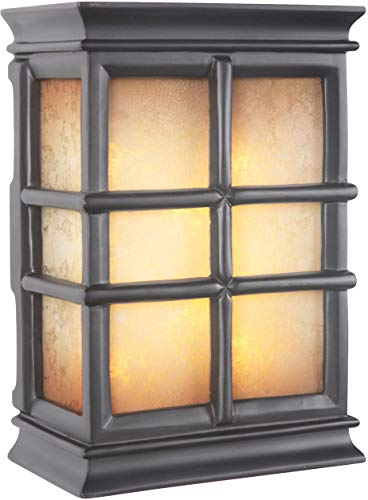 Craftmade ICH1505-BK Illuminated Chime System Hand-Carved Window Pane Lighted LED Door Chime, Black (10