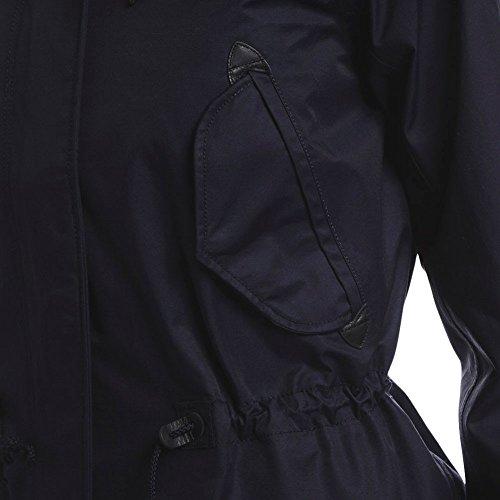 Navy dark Retrostare Longues Bleu Femme Parka Aigle Imperméable Manches aw78vvq