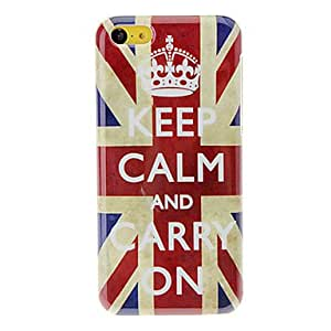 QJM Royal Crown on the Union Jack Pattern Hard Case for iPhone 5C