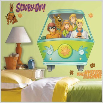 SCOOBY DOO Mystery Machine Giant 34u0027 Wall Stickers Gang Van Room Decor  Decals