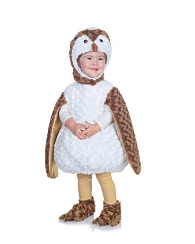 [Underwraps Costumes Baby's Barn Owl Belly-Babies, White/Brown/Tan, X-Large] (Infant Owl Halloween Costumes)