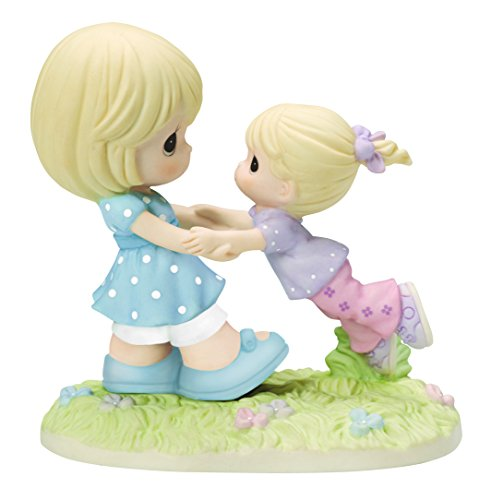 Precious Moments, Your Love Lifts Me Bisque Porcelain Figurine, Mother and Daughter, 154001 ()