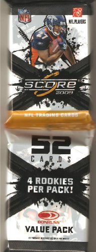 1 JUMBO PACK PACK of 2009 Score Football Cards (52 Cards/Pack 4 - Stores Rcs Cards