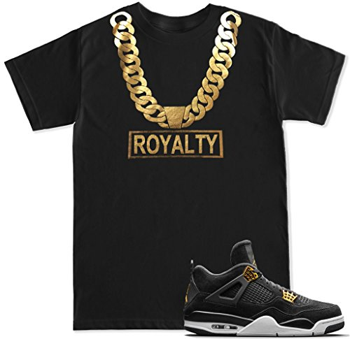 Ftd Apparel Mens Gold Chain Royalty T Shirt   Small Black