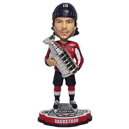 "2018 Stanley Cup Champions Nicklas Backstorm #19 (Washington Capitals) 8"" NHL Bobblehead by Foco"
