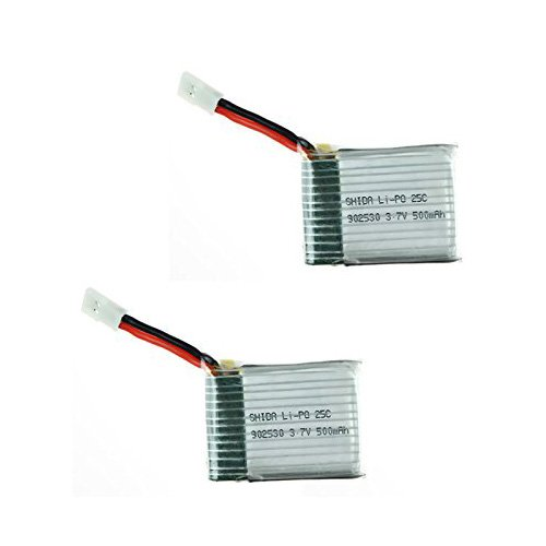 Qsmily® 2Pcs 500mAh 3.7V Lipo Battery for Wltoys V931 F949 XK K123 Airplane Helicopter