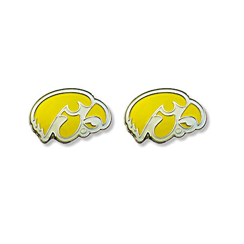 NCAA Iowa Hawkeyes Team Post Earrings ()