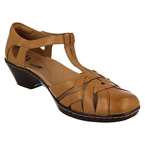 mujer de sandalias la Wendy Tan loras de tacón Clarks qzXP5wTT