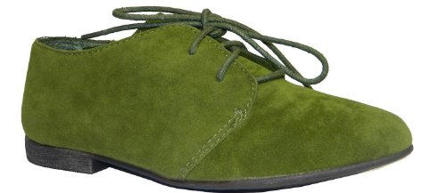 Breckelles Sandy-31 Basic Classic Veter Platte Oxford Schoen, 6 B (m) Ons, Military Green-31w, 6 C / D Us