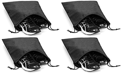 (Shoes Bags Non-woven Bag for Home or Travel Storage Set of 4 (13.7 inch X 17.7inch) (S))