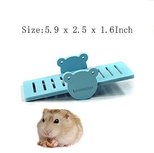 Image of Kathson DIY hamster rainbow play Bridge Seesaw toy for Syrian/robo/Mouse/Djungarian /Dwarf Hamster Mic and Small Animal