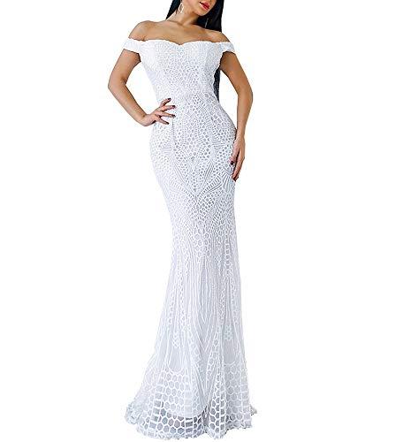 Lin Lin Q Women Bra Sequin Maxi Evening Party Dress