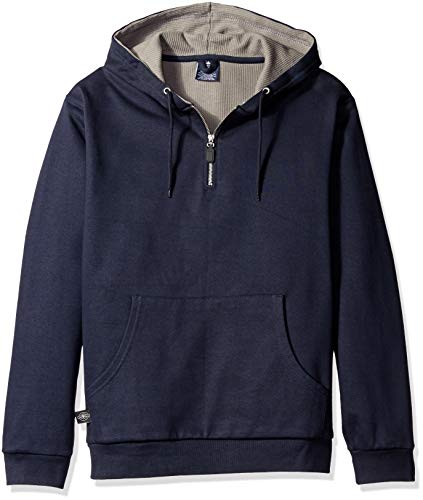 Charles River Apparel Men's Tradesman Thermal Quarter Zip Sweatshirt (Reg & Ext Sizes), Navy, L