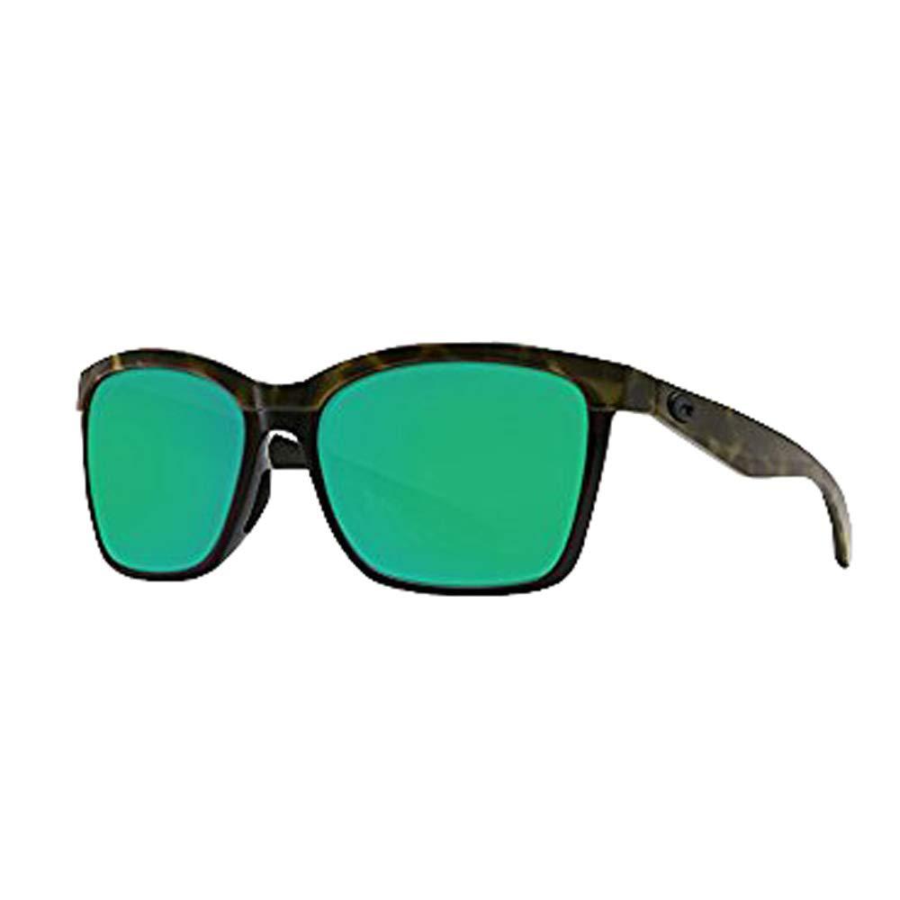 Costa Del Mar Anaa Sunglasses Olive Tort on Black Green Mirror 580Plastic