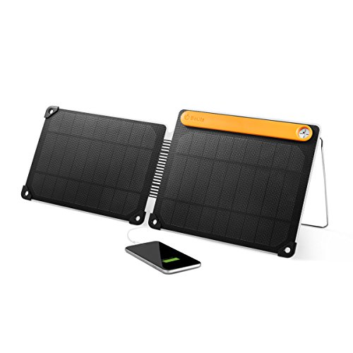 BioLite SolarPanel 10+ Charger with Micro USB Charge Input and USB Outputs, 10 Watt Output and 3000mAh Powerbank, 10.1 x 8.2 x 0.94 Inches, Black/Yellow (SPC1001) by BioLite