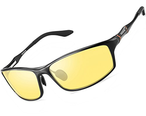Vision Polarized Night Driving Glasses Men Women Outdoor Anti Glare Sunglasses Black 6128