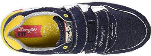 Wrangler Sunday Velcro - Zapatilla Baja Niños Azul - Blau (387 NAVY/DENIM)