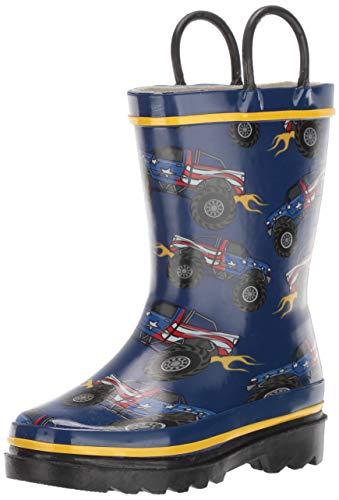 - Western Chief Boys Kid's Waterproof Printed Rain Boot, Monster Truck, 11/12 M US Toddler