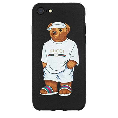 - Stylish Bear Custom Fashion Protective Flexible Case/Cover/Skin Leather Finish for iPhone (White Bear, iPhone X)
