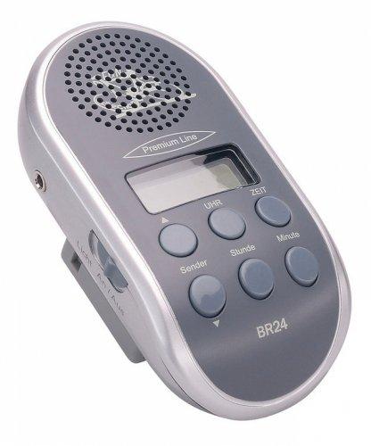 Fahrradradio mit autom.Sendersuchlauf und MP3 Anschluss, grau ohne Batterien