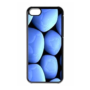 IPhone 5C Case, Luxury Blue Pebbles 2 Case for IPhone 5C {Black}
