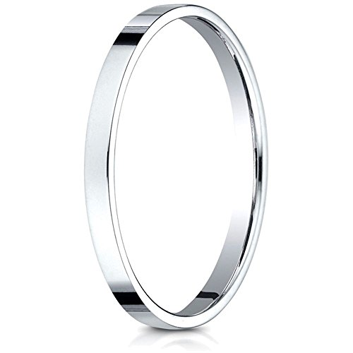Benchmark 14k Gold 2.0mm Traditional Flat Wedding Band / Ring Size 5.5