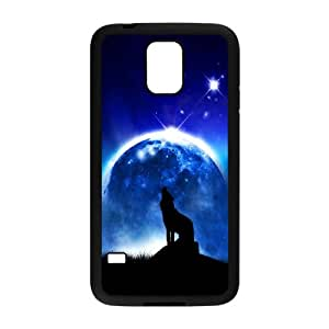 Wolf Howling Samsung Galaxy S5 Cell Phone Case Black Pxiwz