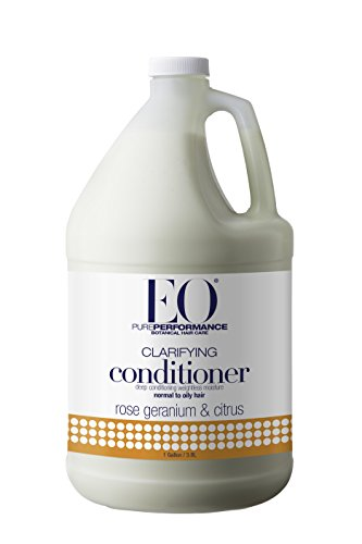 EO Pure Performance Botanical Conditioner, Clarifying for Normal to Oily Hair, Rose Geranium & Citrus, 128 Ounce (1 gallon)