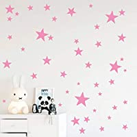 Pink Stars Mix Removable Wall Decals for Kids Room...