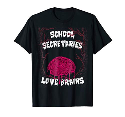 School Secretaries Halloween Costume Teachers Loves Brains