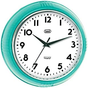 Trevi Original Sixty Retro Turquoise Blue Wall Clock