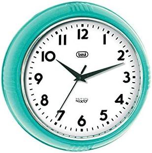 Trevi Original Sixty Retro Turquoise Blue Wall Clock